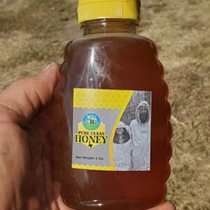 1 pound Jar Honey raw and unfiltered from Ross Rowdy Bees